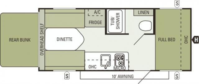 New 2015 Starcraft AR-ONE 18FB Travel Trailer For Sale